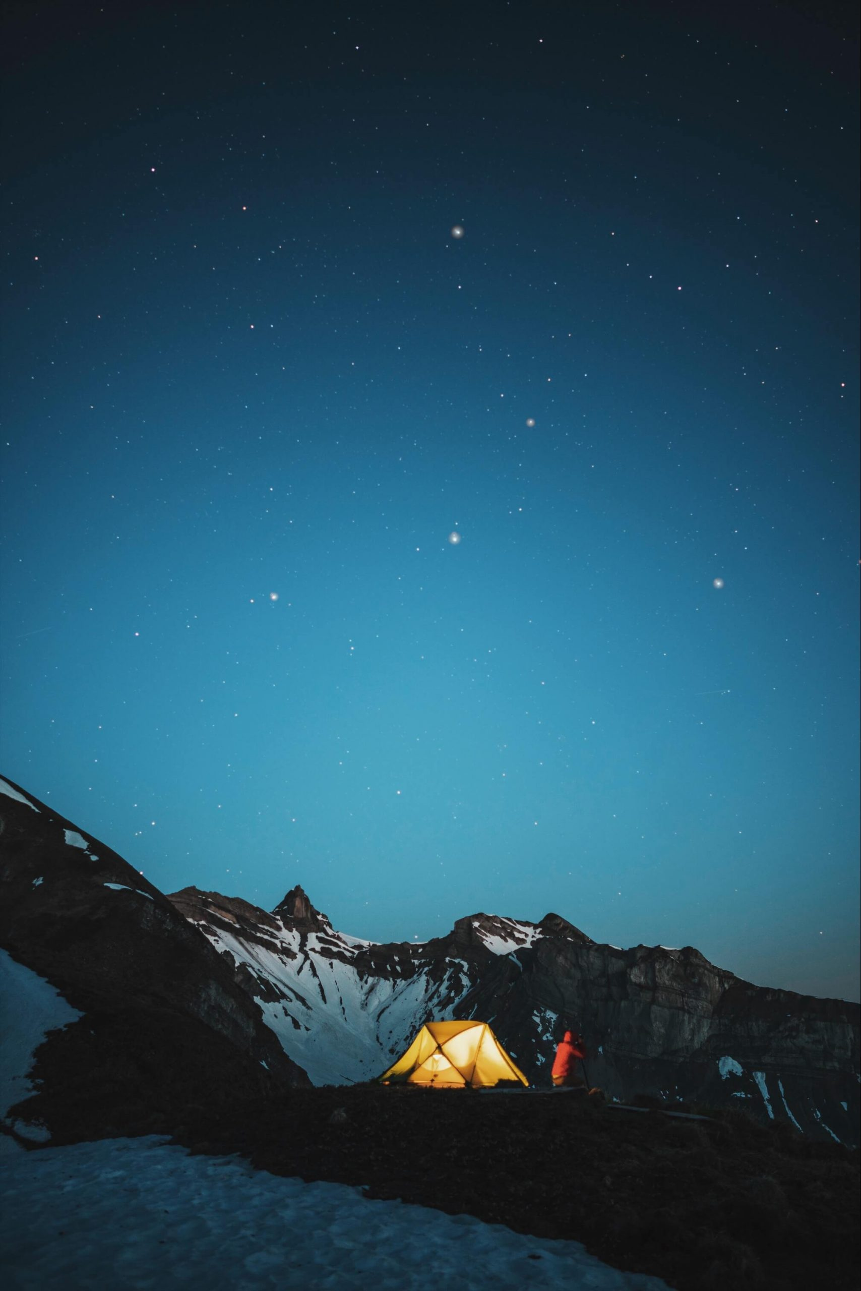 Swiss Alps Camping Backpacking